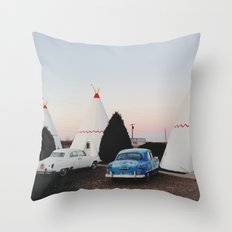Wigwam Motel Throw Pillow