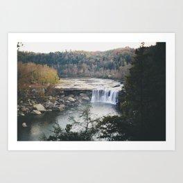 High Above the Falls Art Print
