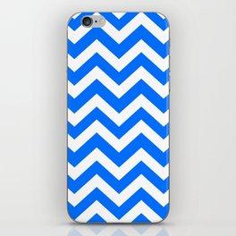 Brandeis blue - blue color - Zigzag Chevron Pattern iPhone Skin