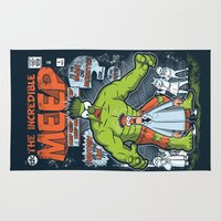 muppet Area & Throw Rugs featuring Incredible Meep by Hoborobo