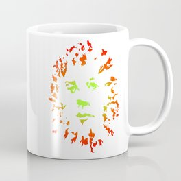 Green Flower Face Coffee Mug