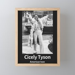 Vintage Retro Cicely Tyson Framed Mini Art Print
