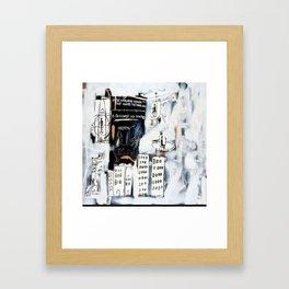 Basquiat City Framed Art Print