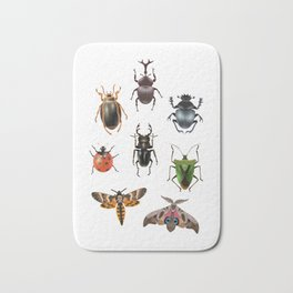 Moth insect butterfly bug insect gift Bath Mat