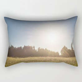 Sunny Oregon meadow full of wildflowers Rectangular Pillow