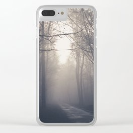 misty morning Clear iPhone Case