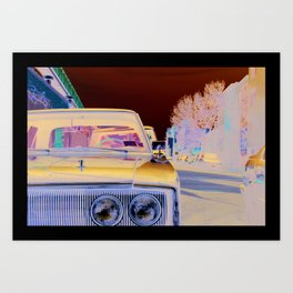 New York car Art Print