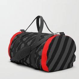 Black, Grey and Red Guitars Duffle Bag