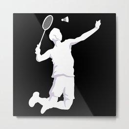 Badminton Shuttlecock Style Metal Print
