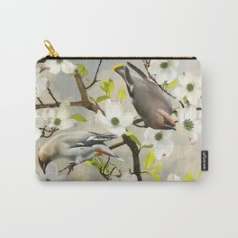 Bohemian Waxwing in Dogwood Tree Carry-All Pouch