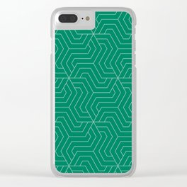 Spanish viridian - green - Modern Vector Seamless Pattern Clear iPhone Case