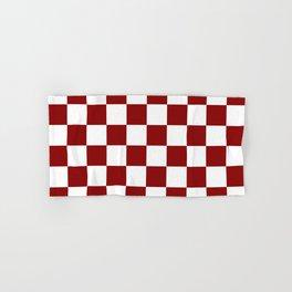 Red White Checker Hand & Bath Towel