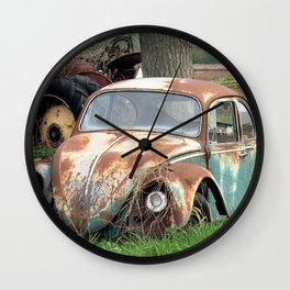 Old Car Graveyard - 2 Wall Clock