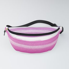 Simply hand painted pink and magenta stripes on white background  2 - Mix and Match Fanny Pack