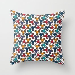 Pattern with spinners Throw Pillow