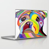 bulldog Laptop & iPad Skins featuring Bulldog by EloiseArt