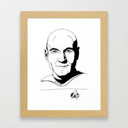 Jean-Luc Picard Framed Art Print