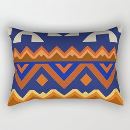 Aztec Folk Art Rectangular Pillow