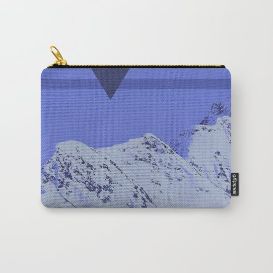 Alaskan Mountains - Periwinkle Carry-All Pouch