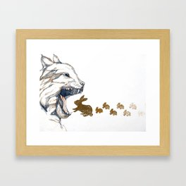 Linx vs. Rabbit Framed Art Print
