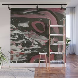 Heavy Metal Music Abstract - Black White Red - Corbin Henry Wall Mural