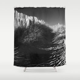Fencing On The Beach Shower Curtain