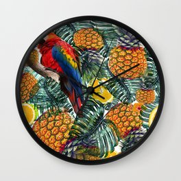 tropical paine Wall Clock