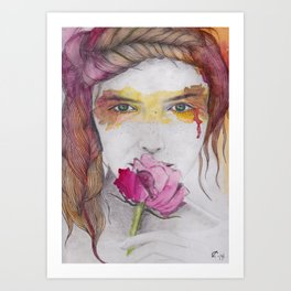 You will discover me, through the art Art Print