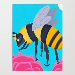 Shrill Carder Bee Poster