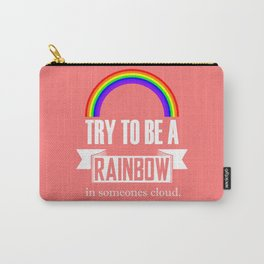 Rainbow Maya Angelou Quote Carry-All Pouch