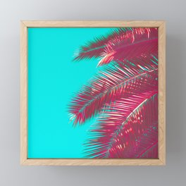 Neon Palm Framed Mini Art Print