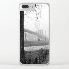 A tree grows & The Brooklyn Bridge Clear iPhone Case