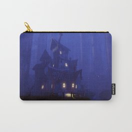 Spectacular Impressive Scary Mansion In Petrifying Woods Dreamy UHD Carry-All Pouch