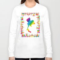 thailand Long Sleeve T-shirts featuring Rainbow Thailand by FACTORIE