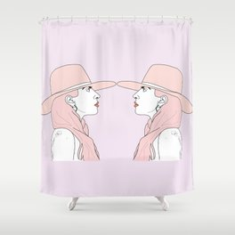 Gagamirrorpink Shower Curtain