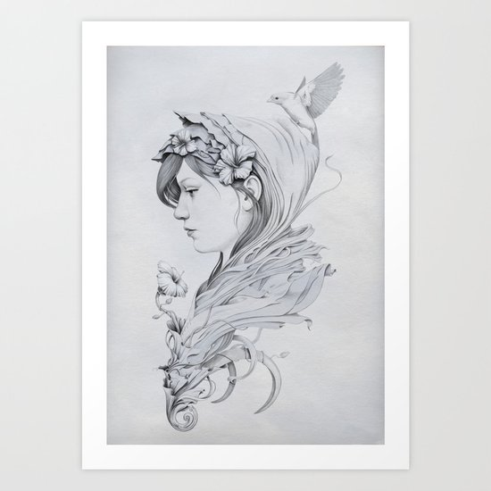 Hooded Art Print
