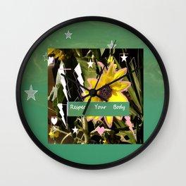 flower3 Wall Clock