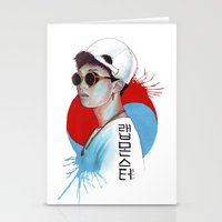 korea Stationery Cards featuring South Korea by Tunyon