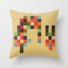 Mid Century Textile Series 1_2 Throw Pillow
