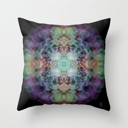 in the strobe light Throw Pillow