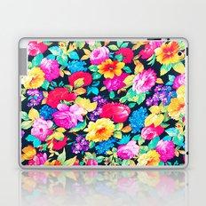 Neon Floral Girly Trendy Pink Teal Fashion Pattern Laptop & iPad Skin