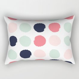 Painted dots trendy color palette minimal polka dots decor nursery home Rectangular Pillow