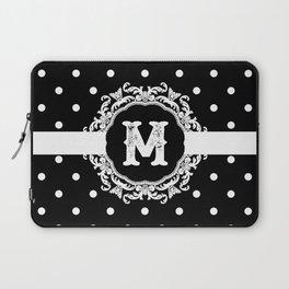 Black Monogram: Letter M Laptop Sleeve