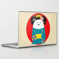 geisha Laptop & iPad Skins featuring Geisha by EinarOux