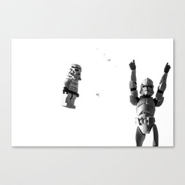 Starwars in space  Canvas Print