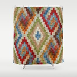 kilim rug pattern Shower Curtain