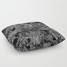 Amsterdam Black Map Floor Pillow