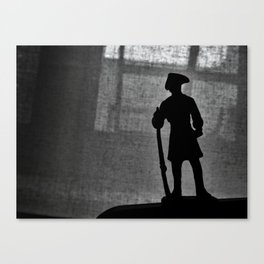 A Man Guarding (Silhouette) Canvas Print
