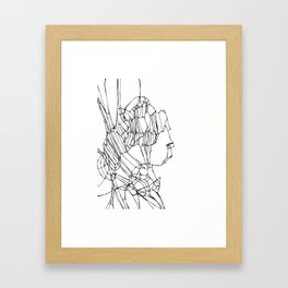 Delineated Guise Framed Art Print