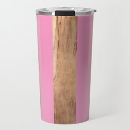 Wood Grain Stripes - Pink #787 Travel Mug